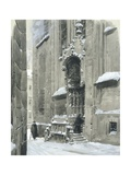 The Passauerplatz in the Snow, Vienna, 1905 Giclee Print by Wilhelm Gause