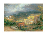 The Bellman with Oxen Giclee Print by Samuel Palmer
