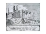 Mary's Column in Market Square in Munich, 1638 Giclee Print by Wilhelm Gause