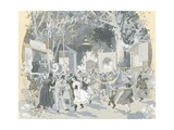Night Ball in Vienna, Austria 19th Century Giclee Print by Wilhelm Zimmer