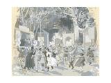 Night Ball in Vienna, Austria 19th Century Giclee Print by Wilhelm Zimmer