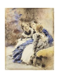 Visiting the College Giclee Print by Tranquillo Cremona