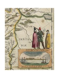 Map of Tartary, from Atlas Maior or Novus Detail Giclee Print by William Affleck
