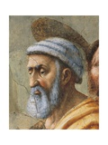 Saint Peter's Face, Detail from the Distribution of Alms and the Death of Ananias Giclee Print by Tommaso Masaccio