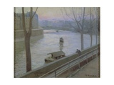 France, Paris, Ile Saint-Louis Giclee Print by Scipione Pulzone