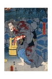 Witch Stained with Blood, Japanese Theater Figure, 1786-1864 Giclee Print by Utagawa Kunisada