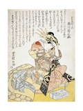 Woman with a Calligraphy Brush, 1769-1825 Giclee Print by Utagawa Toyokuni