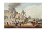 View of a Rum Distillery in the West Indies, 1823 Giclee Print by William Collins