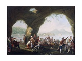 Scenes of Everyday Life in a Cave in Posillipo, Near Naples Giclee Print by Pietro Fragiacomo