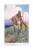 So with Good Heart, and More Fully Armed, Galahad Rode Further Upon His Quest Giclee Print by William Hodges