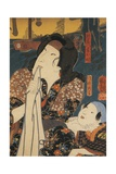 Actor in Pensive Pose Beside Child Giclee Print by Utagawa Toyokuni