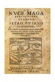 Title Page of De Nuce Maga Beneventana, Naples, 1635 Giclee Print by Pietro Scoppetta