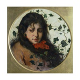 Woman with Ivy Giclee Print by Silvestro Lega