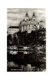 Melk Niederösterreich Donau, Blick Zum Stift, Schiff Giclee Print