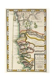 Map of Senegal, Mauritania and Gambia, 1729 Giclee Print
