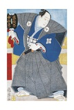 Japanese Actor in Traditional Kimono with Fan Giclee Print by Utagawa Toyokuni