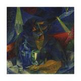 Woman at the Coffee Giclee Print by Umberto Boccioni