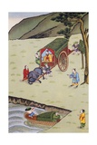 Confucius, Philosopher, on Hoang-Ho River Giclee Print