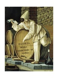 Pulcinella from Traditional Neapolitan Small Business Giclee Print