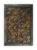 Quran-Holder in Silver, Coral, Wood and Leather, Morocco Giclee Print