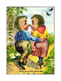 Igel Mecki, Schenk Mir Doch Ein Bisschen Liebe, Schmetterlinge Giclee Print