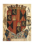Coat of Arms of Aragon, Miniature, Heraldry, Italy Giclee Print