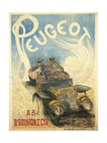 Advertisement for Peugeot Cars, 1896 Giclee Print