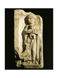 Roman Civilization, Stele Depicting Child and Rooster, from Bordeaux, France Giclee Print