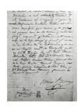 Simon Bolivar's Last Will and Testament Dictated in Santa Marta in Colombia in 1830, Colombia Giclee Print