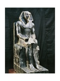 Egyptian Civilization, Diorite Statue of Pharaoh Khafre, from Giza Giclee Print