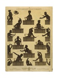 Austria, Vienna, Gustav Mahler Portrayed as Conductor in a Silhouette Giclee Print