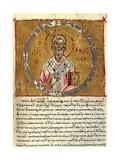 Saint James, Detail, Byzantine Miniature from the Code of Queen Constance, Greek Manuscript Giclee Print