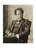Austria, Vienna, Photographic Portrait of Gustav Mahler Giclee Print