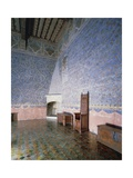 Popes' Room in Tower of Garde-Robe of Papal Palace , Avignon, France Giclee Print
