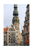 Latvia, Riga, St. Peter's Church Giclee Print