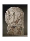 Egypt, Deir El-Medina, Stele Dedicated to the Qetesh Goddess by the Scribe Ramose Giclee Print
