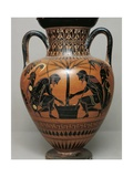 Black-Figure Pottery, Attic Amphora Depicting Achilles and Ajax Playing Dice Wydruk giclee