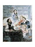 Karl Marx and His Family by Ghan Zen Mon Giclee Print