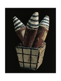 Beer Case Model Containing Three Vessels Giclee Print
