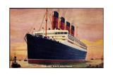 Künstler Cunard Line, R.M.S Aquitania Arriving Giclee Print