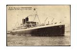 Messageries Maritimes S.S. Explorateur Grandidier Giclee Print