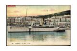 Alger Algerien, Le Port, Dampfschiff Rey Jaine II Giclee Print