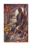 Robinson Crusoe and His Pets, from Adventures of Robinson Crusoe, Published 1908 Giclee Print