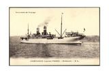 Dampfer Britannia Der Compagnie Cyprien Fabre Giclee Print
