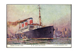 Künstler Stöwer, United States Lines, S.S. Leviathan Giclee Print