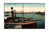 Duisburg, Blick Auf Den Hafen, Dampfer,Karl Schaders Giclee Print