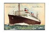 S.S. Manhattan, United States Lines, Steamer Giclee Print