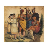 France, Paris, Native Americans in 1850 Giclee Print