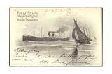 Künstler Red Star Line, Dampfschiff, Boje,Segelboote Giclee Print