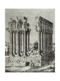 Roman Ruins in Bordeaux, France 19th Century Engraving Giclee Print
